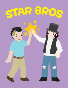 "Star bros from innapropriately adorable (Bobak Ferdowsi AKA nasa mohawk guy and Alex ""Star-Burns"" Osbourne."