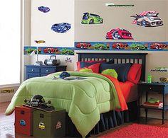 Hot Wheels Room Decals. My Son Would FLIP Over These!