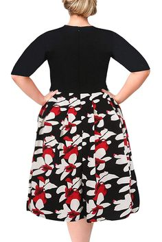 1544258174a Nemidor Women s Floral Print Vintage Style Plus Size Swing Casual Party  Dress     Click on the image for additional details. (This is an affiliate  link)   ...