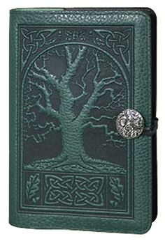 leather journal with celtic design