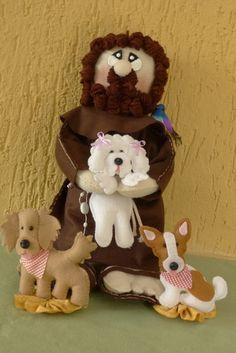 São Francisco de Assis com cachorrinhos