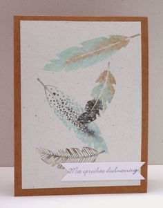 Marits blog: Stampin Up Fine feathers, Sentimenten