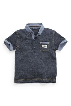 Buy Denim Look Polo Shirt (3mths-6yrs) from the Next UK online shop