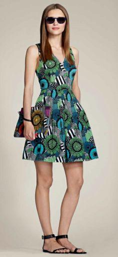 Banana Republic Marimekko Collection A-Line Dress Siirtolapuutarha Print 4 Haute Couture Dresses, Haute Couture Fashion, Marimekko, Vintage Mode, Models, Banana Republic Dress, Spring Summer Fashion, Vintage Fashion, Glamour