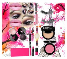 """Pink combination"" by minaminto ❤ liked on Polyvore featuring Chanel, Illamasqua, L'Oréal Paris, NYX, Giorgio Armani, NARS Cosmetics, Kate Spade, LIPSTICK, mascara and clock"