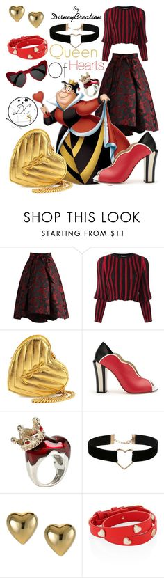 """Queen Of Hearts - By DisneyCreation"" by disneycreation ❤ liked on Polyvore featuring Chicwish, Sonia Rykiel, Yves Saint Laurent, Fendi, Disney, Miss Selfridge and Tory Burch"