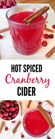 Hot Spiced Cinnamon Cranberry Cider (Mulled Wine Optional!) - The ...