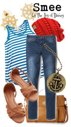 Casual outfit inspired by Mr. Smee from the movie Peter Pan!