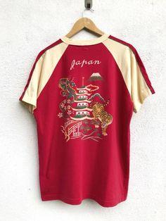 "Pherrows Made In Japan Pherrows Dragon Vs Tiger Raglan SL Armpit 22""x28"" Size m - Short Sleeve T-Shirts for Sale - Grailed"