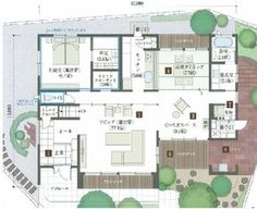 Craftsman Floor Plans, One Bed, Japanese House, House Plans, Layout, Flooring, How To Plan, Mansions, Architecture