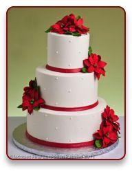Holiday Pointsettas Cake @jacques fine european pastries