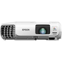 Epson - PowerLite 720p 3LCD Projector - White