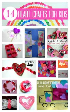 14 Easy heart crafts for valentine's day. Perfect for preschool.
