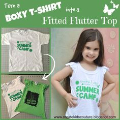 Turn a Boxy T-Shirt into a Fitted Flutter Top Tutorial