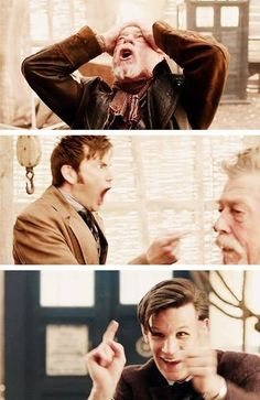 """""""The AHA! moment."""" Or as I'd like to call it """"The Doctor plays Monopoly against himself"""" I Am The Doctor, Bbc Doctor Who, 11th Doctor, Perfect People, X Men, Star Wars, Harry Potter, Supernatural, Actors"""