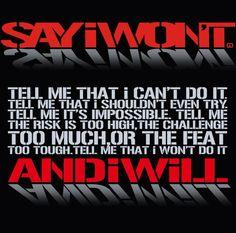 Say I won't