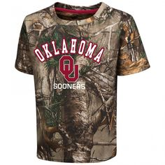 New College Realtree Camo Youth Tee Oklahoma State