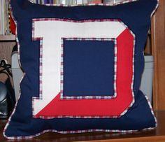 Denison Big D Applique Denison University, Applique Pillows, Fraternity, Sorority, College, Quilts, Blanket, Big, University