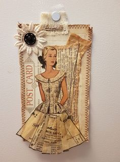Understanding The Vintage Sewing Pattern - Sewing Method Sewing Art, Vintage Sewing Patterns, Sewing Crafts, Sewing Projects, Clothing Patterns, Pattern Sewing, Vintage Sewing Notions, Marianne Design, Assemblage Art