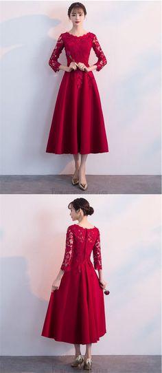 long sleeve formal dress #formaldress Red Chiffon, Prom Dresses, Formal Dresses, Medium, Tulle, Lace Up, Long Sleeve, Fashion, Dresses For Formal