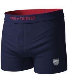 Pair of Thieves Men's Blackout Boxer Briefs - Blue XL