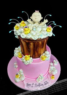 Rubber ducky 1st birthday cake by Design Cakes, via Flickr
