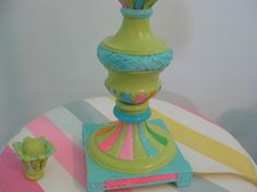 Lilly Pulitzer Inspired Table Lamp by Fairyhome on Etsy