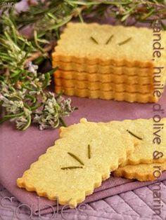 Alter Gusto | Sablés aux amandes, huile d'olive & romarin - A tester avec des noix pour association sablés/crème chèvre et noix