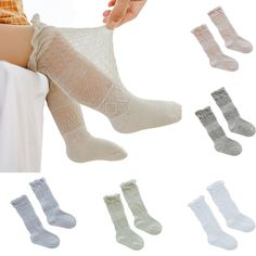 5 Pack Infant Toddler Thin Mesh Breathable Knee High Sock Baby Girls Tube Ruffled Stockings