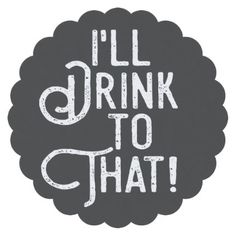 #I'll Drink to That | Party Cheers | Celebration Paper Coaster - #WeddingCoasters #Wedding #Coasters Wedding Coasters