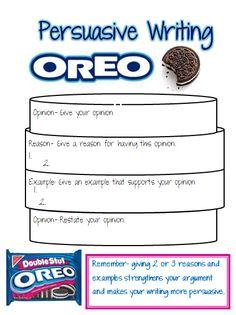 Oreo Graphic Organizer