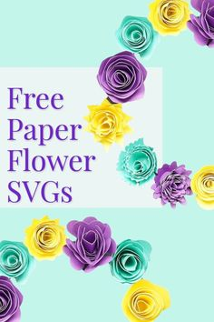 free rolled paper flower templates set, cricut flower handmade flower 3d Paper Flowers, Rolled Paper Flowers, Paper Flower Art, How To Make Paper Flowers, Flower Svg, Flower Crafts, Rose Tutorial, Paper Flower Tutorial, Free Paper Flower Templates