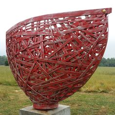 "Untitled by American sculptor Michael Waller of WallerFouchee Studios. A similar ""basket"" of his measures at 6 x 4 x 2 feet! via contemporary basketry"