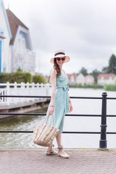 French Blogger Mode and the City in the Boden Riviera Dress. Featuring a flattering nipped in waist and wrap detail, it's worth organising a picnic for. Click through to see more about her trip to Baie de Somme on her blog.