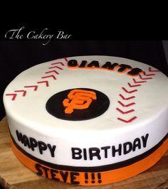 San Francisco Giants Birthday Cake Blue Note Bakery