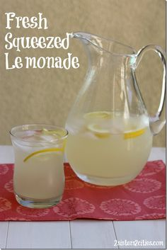 Fresh squeezed Lemonade- a classic from 2sisters2cities