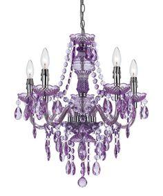 Love this Purple Fulton Five-Bulb Chandelier on #zulily! #zulilyfinds