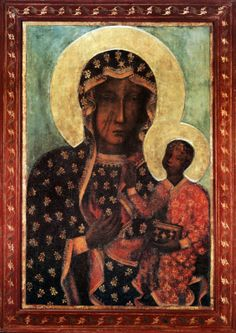 Black Madonna facts - Black Madonna of Czestochowa. It is doubtful if any other images of Our Blessed Mother with Her Child possesses a more glorious history than this one. Madonna Art, Madonna And Child, Our Lady Of Czestochowa, Joseph, Angels Among Us, Holy Mary, Blessed Virgin Mary, Blessed Mother, Religious Art