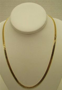 "14K YELLOW GOLD FILLED 20"" HERRINGBONE CHAIN 4.5mm WIDE 21g 1/20 14k GF NECKLACE #Chain Necklace Chain, Pearl Necklace, Pendant Necklace, Gold Necklaces, Fashion Necklace, Herringbone, Pendants, Pearls, Yellow"