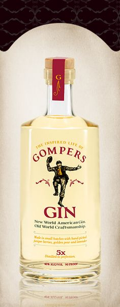 Gompers Gin | Oregon made craft liquor. PD