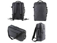 3 Way Bag Mens Backpack Laptop Rucksack School College Book