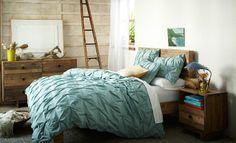 BEDROOM SUITES   west elm (teal +distressed wood. need I say more?)