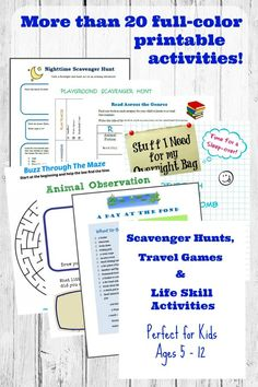 AWESOME things to do with the kids this summer -- printable scavenger hunts, car games and more!