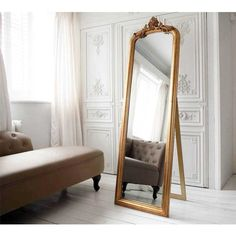 Glorious Gilt French Mirror - French Bedroom Gold Mirror