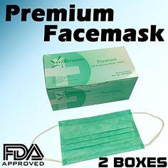 100 pcs disposable ear loop face masks medical fda approved