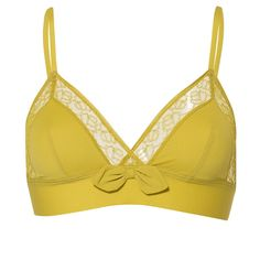 LOVE this ! Chartreuse Bow Bralette..  if only I had less protruding boobs!