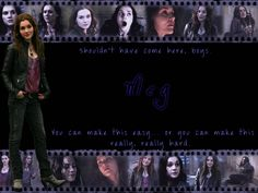 Meg Wallpaper from Supernatural. Meg Supernatural, Supernatural Cosplay, Supernatural Wallpaper, Two Brothers, Really Hard, Winchester, Movie Posters, Army Men, Legos