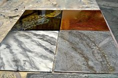Epoxy Resin Natural Stone Color Samples