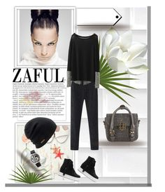 """""""zaful-?lkid=5095"""" by lana-97 ❤ liked on Polyvore featuring Balmain, Coal, women's clothing, women, female, woman, misses and juniors"""