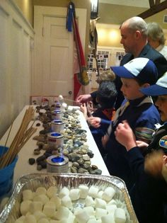 S'mores bar in action at the blue and gold banquet